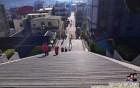 建中國小3D彩繪樓梯